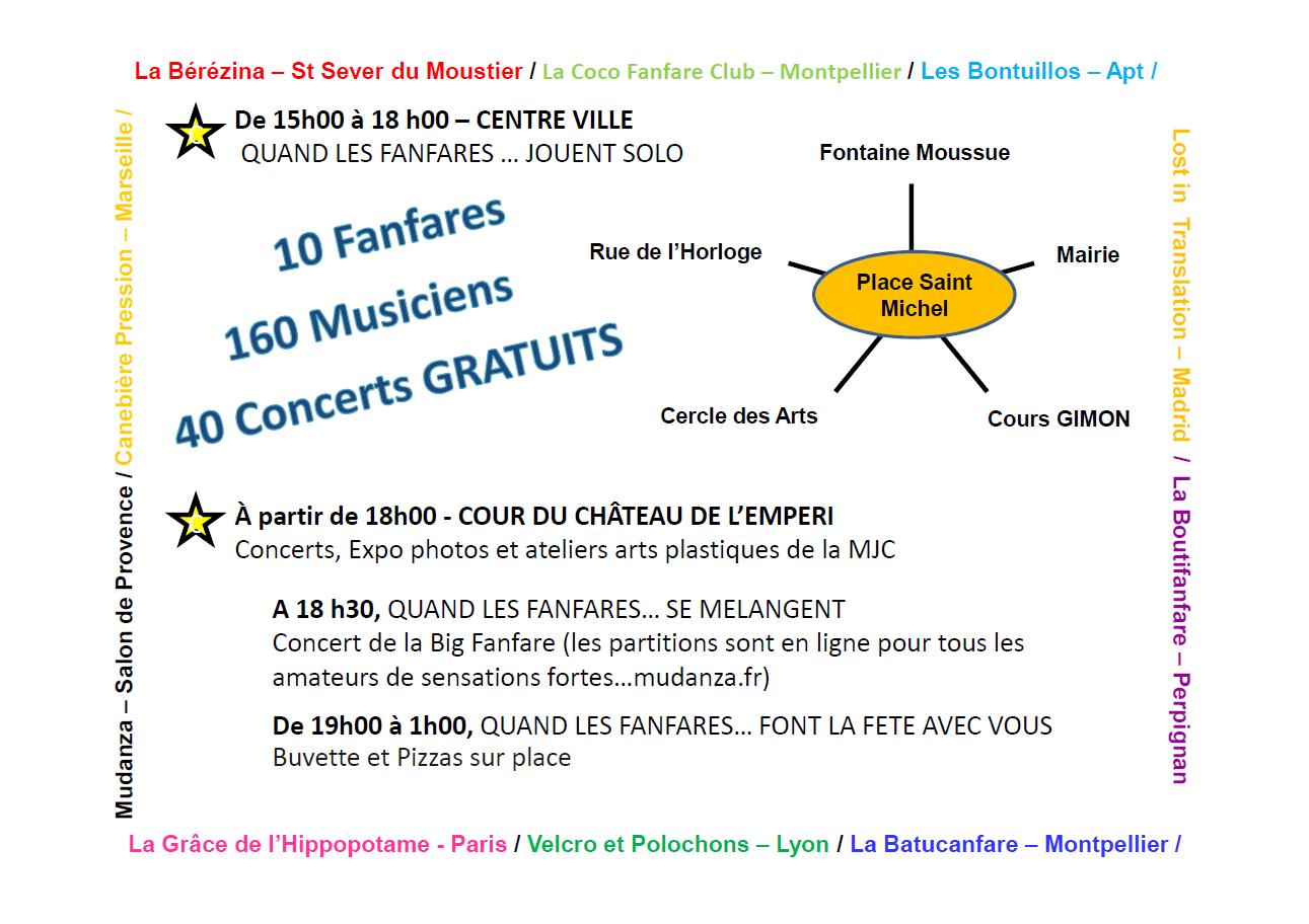 Programme du festival de fanfare 2016